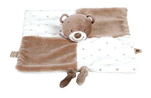 Nattou Schnuffeltuch Mädchen und Jungen, 30 x 30 cm, beige - Tom der Bär