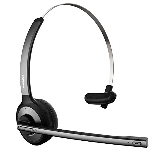 【Smart Telefonwahl】Mpow bluetooth V4.1 Headset, Wireless Over-the-Head Headset mit Rauschunterdrückung und mikrofon für PC, Handy, VoIP, Skype, Call Center, Büro, Auto usw.