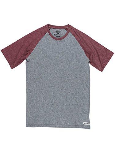 Element Herren T-Shirt Basic Raglan Shirt Grau