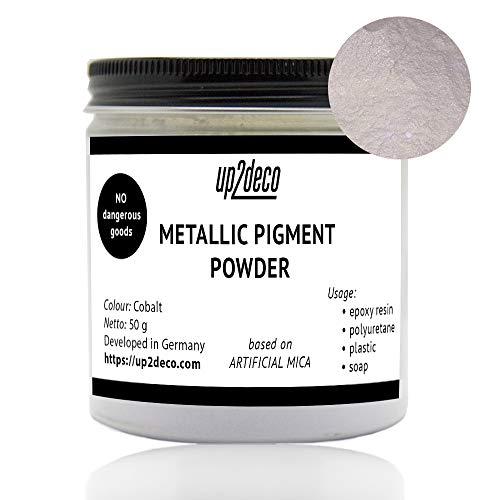 up2deco. Metallic Pigment Puder für Epoxidharz Polyurethan Beschichtung Boden Guss Art Seife Perlglanz-Pigment basierend auf Künstliche Mica Gold (Kobalt) - Kobalt-boden