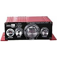 Amplificador de audio - SODIAL(R)12V Mini Hi-Fi Amplificador de audio Booster MP3 estereo para Coche Motocicleta Barco Casa