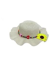 Leisial Enfants Capeline Chapeau de paille Anti-soleil Respirant Anti UV  pour les Filles été 41ff1c479c8