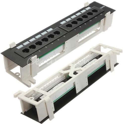 Patch El (Generic NV _ 1001004083_ yc-uk2twork PA Panel Wand-EL WA Neue 12Port unt B Halterung Rack T RAC Mini Patch 5e RJ CAT5e RJ45110Netzwerk New 12)