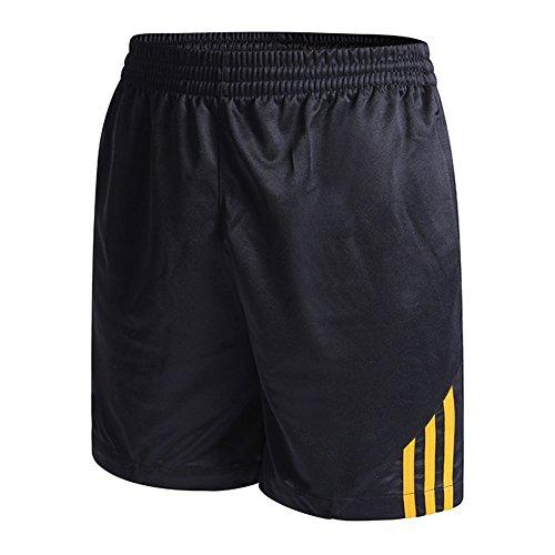 Juleya Damen Herren Shorts Atmungsaktiv Hosen Sommer Trainingshose Fußball Basket Sport Jogger Kurze Hose Unisex Trunks Strandhose Bekleidung Gelb XXL