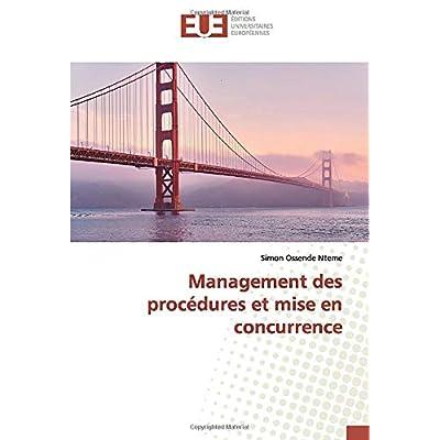 Management des procédures et mise en concurrence