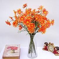 GSYLOL 5 cabezas crisantemo flores artificiales margarita flor artificial  flor de seda boda casa decoración de 25c629ff6847