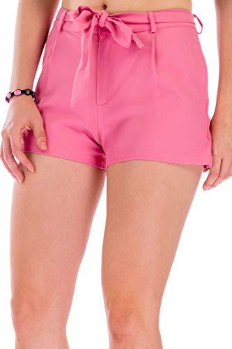 Shorts Damen Kurze Hose Damen Sommer Mit Gürtel Kurze Hosen Damen Sommer, Shorts Damen Neon Pink, Shorts Damen Eng, Shorts Damen Destroyed, Shorts For Women, Sommerhose Damen Größe 34 (Small) Rosa (Pi (Womens Poplin Shorts)