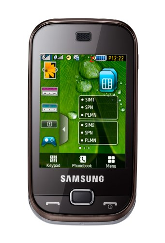 Samsung B5722 Handy (Dual-Sim-Funktion, Touchscreen, Kamera) [EU-Version] dark brown Samsung Touch Mp3-player