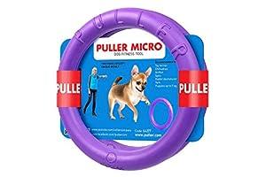 PULLER Collar Micro Jouet Interactif Composé DE 2 Anneaux pour Chien Violet Diamètre 13 cm