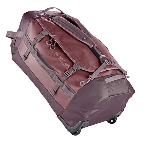 Eagle Creek Cargo Hauler Wheeled Duffel 130L, faltbare Reisetasche mit Rollen, großes Duffle Bag, abrieb- & wasserbeständiges TPU-Gewebe, Rucksacktragegurte, Earth Red, XXL