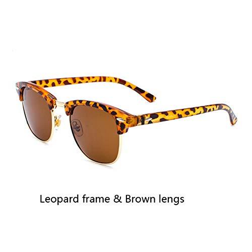 Sonnenbrillen. Klassische Marke Polarisierte Sonnenbrillen Männer Frauen Die Hälfte Metall Spiegel Unisex Sonnenbrille Uv400 Outdoor Reisen Sommer Staub Braun