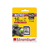 Strontium Nitro 16GB SD SDHC UHS-I U1 V10 Class 10 Flash Memory Card (SRN16GSDU1QR)