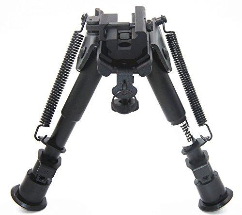 JINSE Bipod Zweibein Ständer Einstellbare 15-23cm Spring Return Schnellsp (Gewehr-schiene)