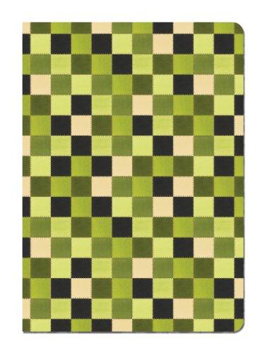 Baumfreie Grüße Eco Tagebuch, 14x 19,1cm, 160linierte Seiten mit Flexi Cover und Grün Quilt Kunst von Debbie Mumm (25)