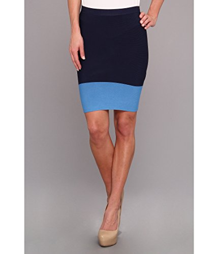 BCBGMAXAZRIA Women's Joelle Knit Sweater Skirt Navy Combo XS (US 2) (Navy Knit Skirt)