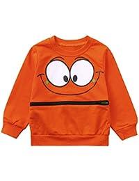 Rawdah_Conjunto Bebe NiñO Invierno Blusas Bebe NiñO Sudaderas Bebe NiñO Baby Girls Boys Manga Larga Dibujos Animados Ojos Suave Toddler Kids Tops Camisa Ropa