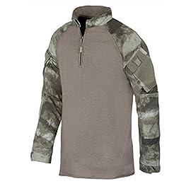 Tru-Spec – Comba Tshirt 1 4 Zip militare A-TACS FG 79156522a6ad