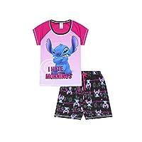 Ladies Disney Lilo and Stitch I Hate Morning Short Pyjamas