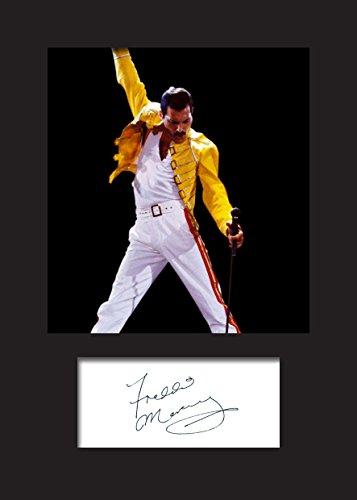Freddie Mercury#2-Targhetta con stampa foto, formato A5