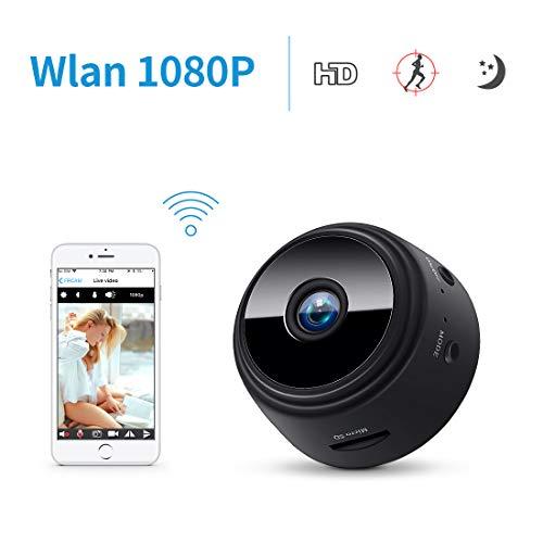 Mini Kamera Überwachungskamera WLAN HD 1080p,FREDI Bluetooth Camera Tragbare WiFi IP Kamera mit Bewegungsmelder/Mikrofon/Videoaufzeichnung/für iPhone/Android/iPad