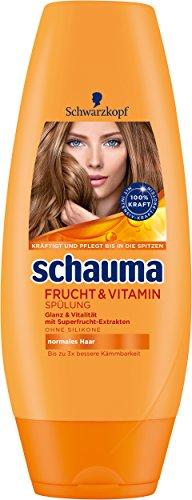 Schwarzkopf Schauma Frucht & Vitamin Spülung, 6er Pack (6 x 250 ml)