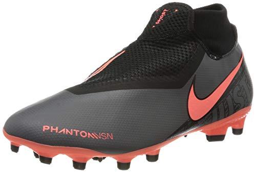 Nike Unisex-Erwachsene Phantom Vsn Academy Df Fg/mg Fußballschuhe, Grau (Dk Grey/BRT Mango/Black/Black 080), 40 EU