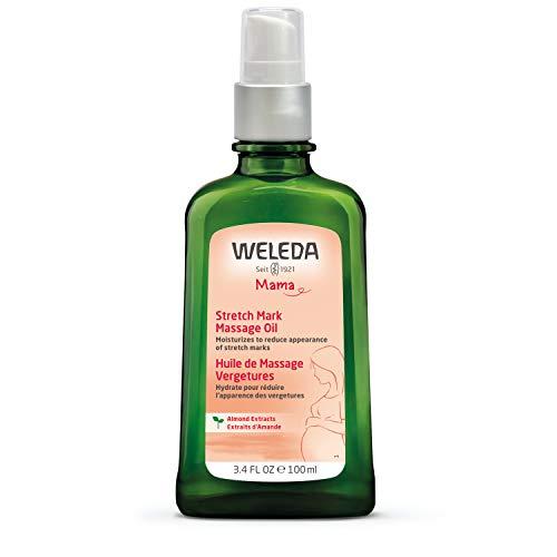 WELEDA Schwangerschafts-Pflegeöl, pflegendes Naturkosmetik Massageöl zur Vorbeugung- und Beseitigung von Schwangerschaftsstreifen am Bauch, Oberschenkel und an der Brust (1 x 100 ml)