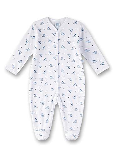 Sanetta Baby-Jungen Overall Strampler, Weiß (White 10), 92 (Herstellergröße: 092)