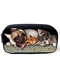 EasyBuy India Pet Dog Print Women Cosmetic Cases Kids Animal Pencil Pouch Makeup Bags Dog Husky Printed Pencil... - B076YCXRQH