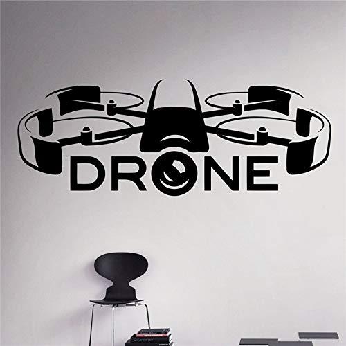yaoxingfu Air Drone Spy Wand Vinyl Aufkleber Quadcopter Wandaufkleber Aircraft Home Wall Art Decor Innen Abnehmbare Kinderzimmer Design ww-1 120 x 45 cm (Tätowierung-design-bücher)