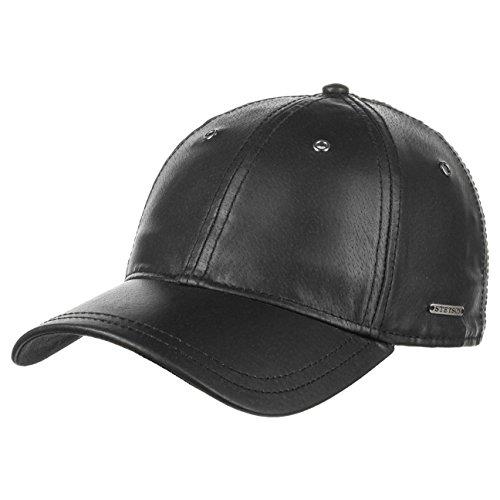 Joes Leder Basecap Stetson Nappaledercaps Lederkappe (One Size - schwarz) (Leder Joe)