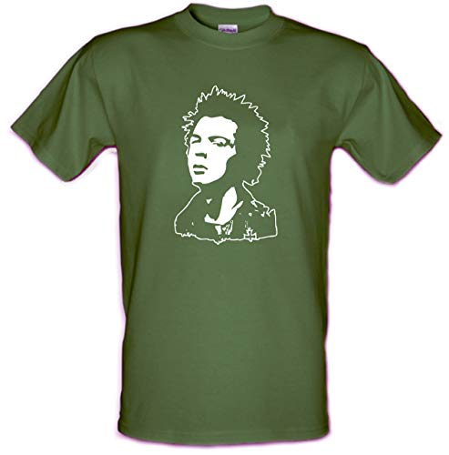 Sid Vicious Head T-shirt, Heavy Cotton, 4 Colours, S to XXL