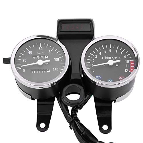 Doble odómetro de la motocicleta digital LED tacómetro velocímetro medidor de aceite...