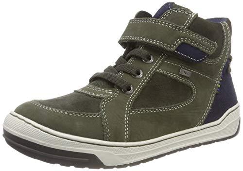 Lurchi Jungen Barney-TEX Hohe Sneaker, Grün (Dk.Olive 26), 34 EU