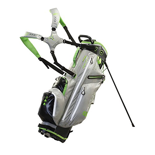 BIG MAX Dri Lite G 14-WAY Standbag - Wasserabweisend (Silver/Black/Lime)