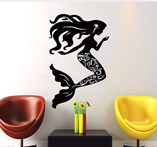 Zjxxm Nautische Muscheln Serie Wandaufkleber Kunst Wohnkultur Silhouette Wandtattoos Für Mädchen Zimmer 59 * 89 Cm -