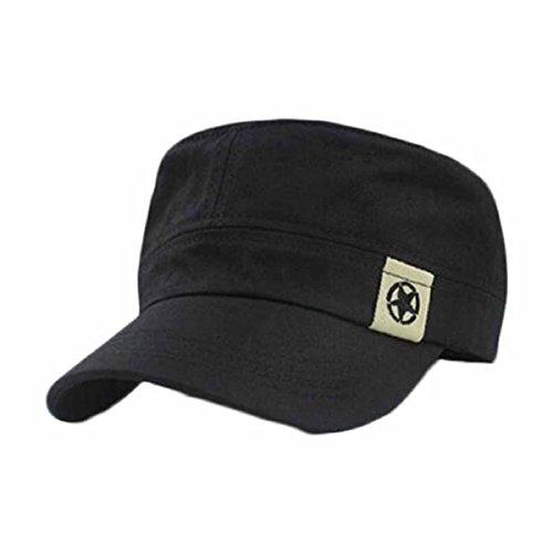 tongshi-tejado-plano-militar-sombrero-cadete-patrulla-bush-sombrero-gorra-de-beisbol-campo-negro