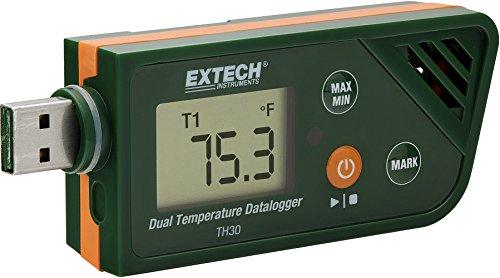 Preisvergleich Produktbild Extech TH30 Dualer Datenlogger für Temperatur im USB-Format