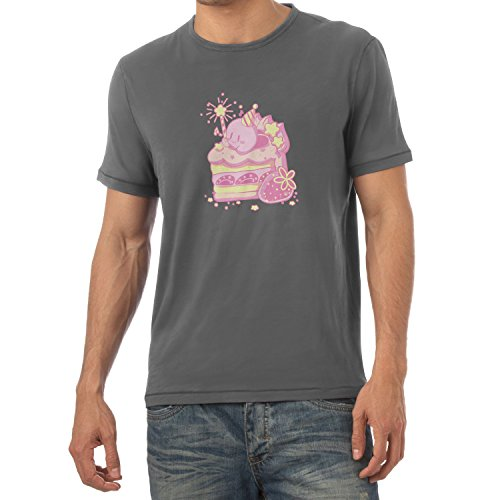 NERDO - Cake Time - Herren T-Shirt Grau