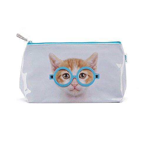 Catseye Kulturtasche Glasses Cat Katze mit Brille