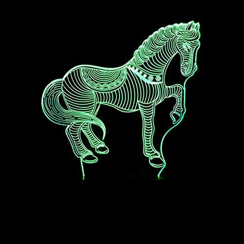 Neue Zebra (ZIXUAA Neue Zebra Fernbedienung Bunte 3D licht kreative Touch Desktop tischlampe energiesparende led Illusion licht)