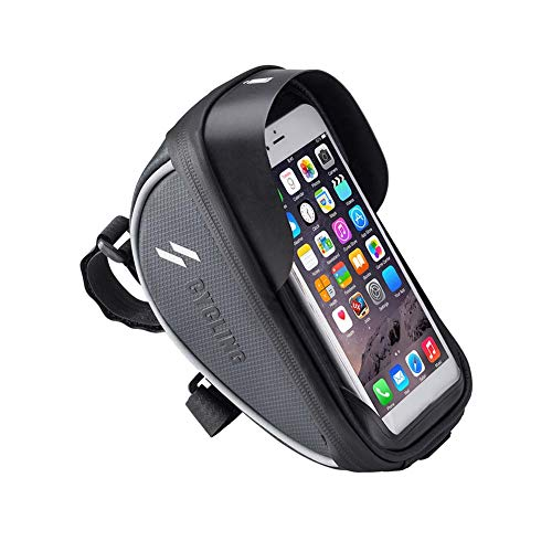 Jiqiaoda2 Handlebar Pouch Outdoor Cycling Mountain Bike Handlebar Touch Screen Phone Holder Pouch Bag-Black 6 Zoll f¨¹r iPhone 7/8/Xr Xs f¨¹r Samsung A7 S7 S8 S9 S10 Note 8/9 f¨¹r Huawei Universal-nylon-eva Pouch
