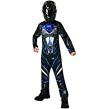 Saban–i-630715m–Disfraz clásico Power Rangers–negro–talla M