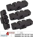 P4B Power-Pads Bremsbeläge für Magura Hydraulikbremsen HS11/HS22/HS24/HS33/HS 33 RE/HS33 R Urban/HS33 R Trial/HS33 R Firmtech/HS33 R HSI----2 Paar (= 4 Stück)----schwarz