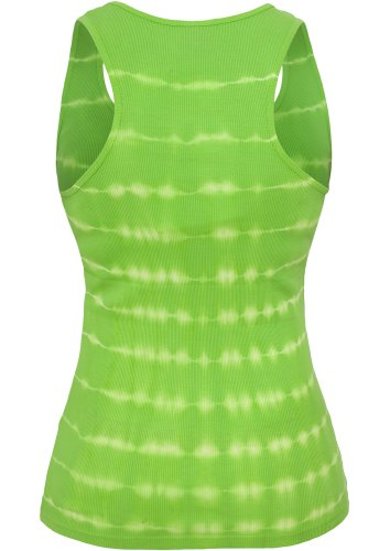 URBAN CLASSICS Ladies Batik Tanktop, white-limegreen white-limegreen