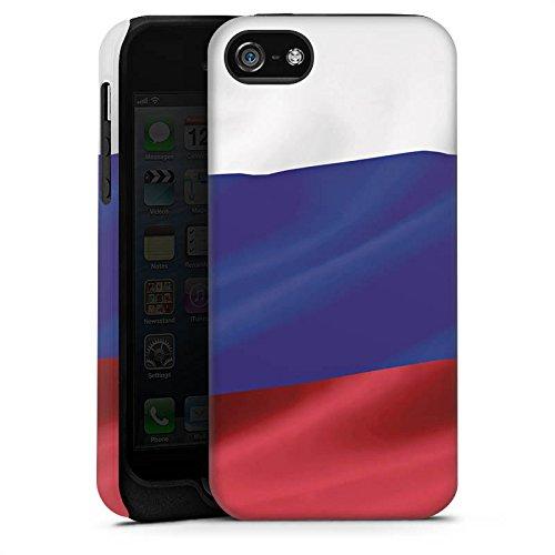 Apple iPhone 6s Hülle Premium Case Cover Russland Flagge Russia Tough Case matt