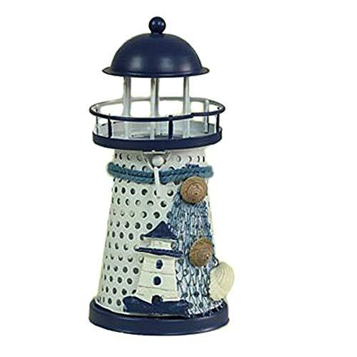 XIAOYUTOU Laterne Kerzenhalter Vintage mediterranen Stil Eisenturm Kerzenhalter Leuchtturm Urlaub Candlestick Home Wedding Decor (Color : A1 Tower) - Candlestick Tower