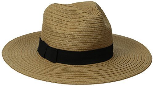 san-diego-hat-company-womens-paperbraid-fedora-with-bow-band-tobacco-one-size