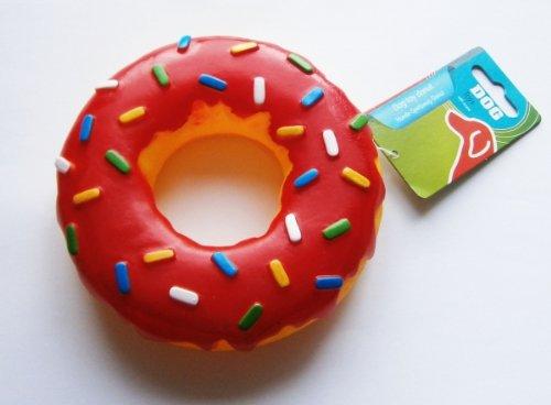 HUNDE-SPIELZEUG-DONUT Geräusch ROT Ø15cm Hundespielzeug Hund Quitsch Dog Toys (Donut Spielzeug Für Hunde)