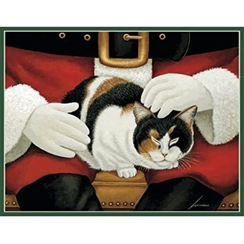 MOLLY MANGELSDORF 21 Christmas Cards by LANG, CAT art by Lowell Herrero by Lang